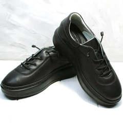 Женские кроссовки кеды черные Rozen M-520 All Black.