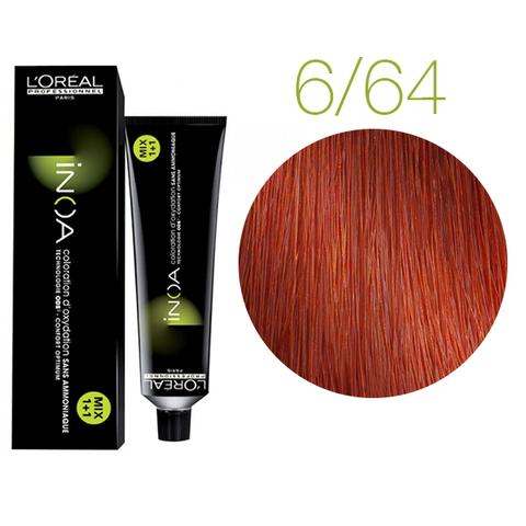 L'Oreal Professionnel INOA Carmilane 6.64 (Темный блондин фиолетово-медный) - Краска для волос