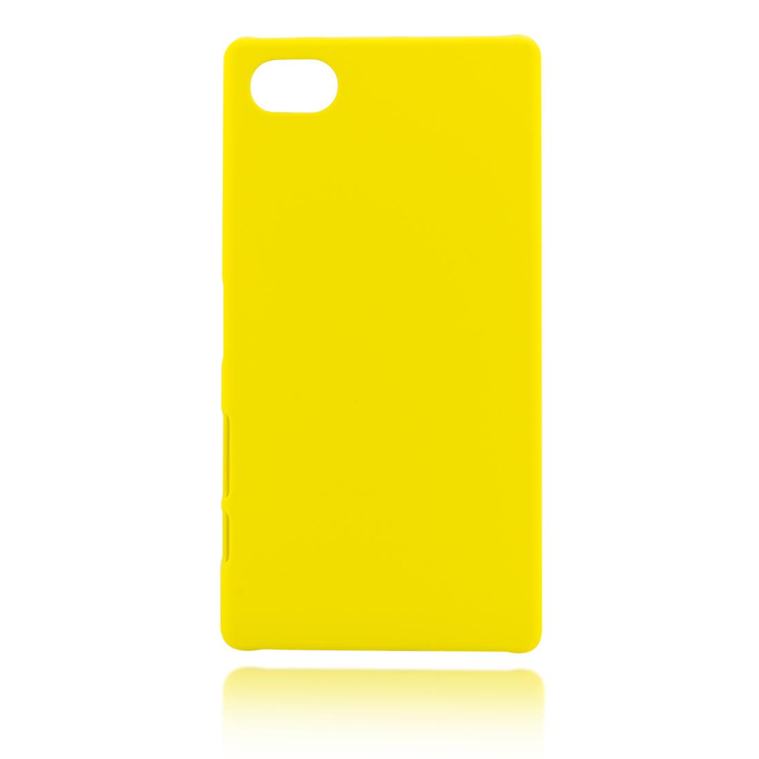 Пластиковая накладка для Xperia Z5 Compact жёлтого цвета