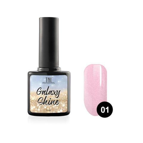 Гель-лак TNL Galaxy shine №01 - пыльно-розовый с шиммером (10 мл.)