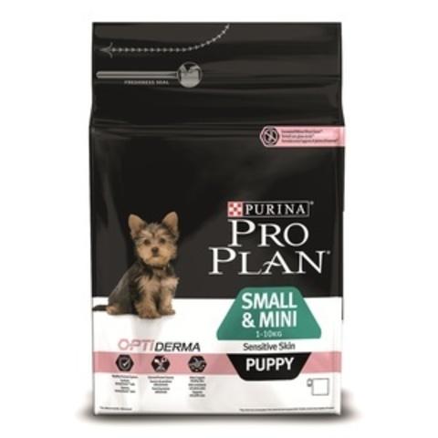 Small & Mini Puppy Sensitive Skin - для щенков малых и карликовых пород с лососем и рисом