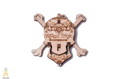 Вудик Череп от Wood Trick - Деревянный конструктор, сборная модель, 3D пазл