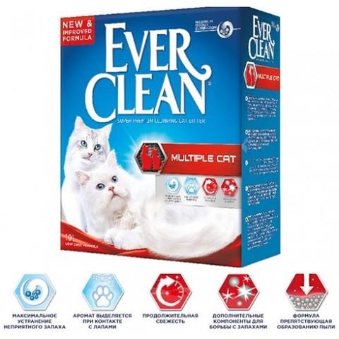 Наполнитель Ever Clean Multiple Cat 10 л