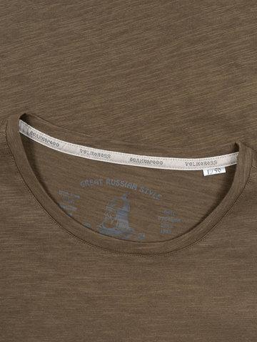 Мужская футболка «Великоросс» цвета хаки