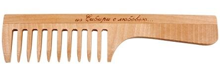 Расчёска с ручкой, редкий зуб, 197мм