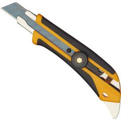 Нож универсальный Olfa с роликовым фиксатором и прорезиненными вставками (ширина лезвия 18 мм)
