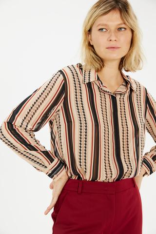 Блуза с комбинированным паттерном