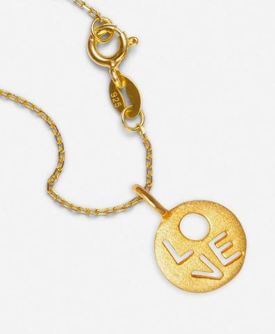 Подвеска Love круглая gold