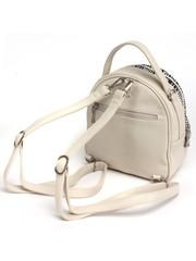 Бежевый рюкзак с контрастными вставками
