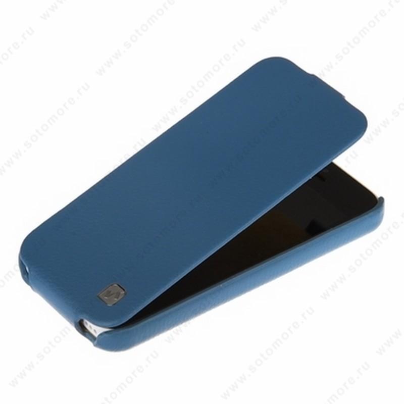 Чехол-флип HOCO для iPhone SE/ 5s/ 5C/ 5 - HOCO Duke Leather Case Blue