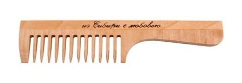 Расчёска с ручкой, средний зуб, 170мм