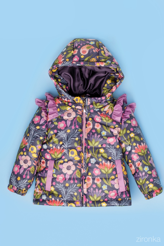 Куртка разноцветная для девочки 48-9001-3