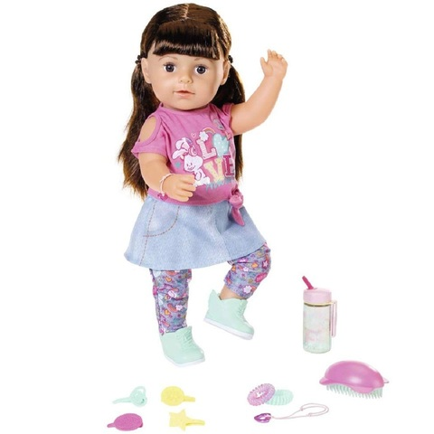 Беби Бон кукла Сестричка Брюнетка 43 см