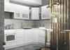 Модульный кухонный гарнитур «Вита» 2450/1650 (белый), ЛДСП/МДФ, ДСВ-Мебель