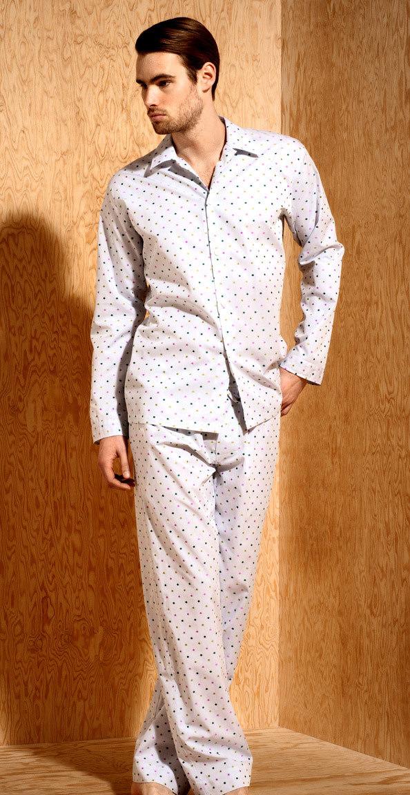 Мужская пижама в горошек Zimmerli