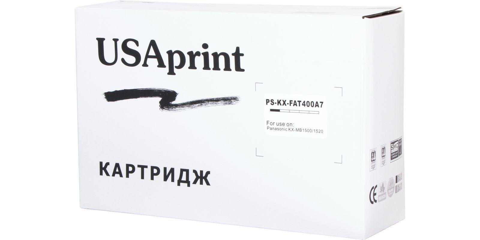 USAprint KX-FAT400A, черный, для Panasonic, до 1800 стр.