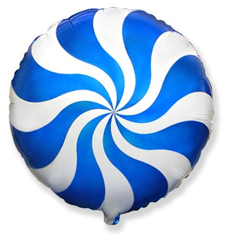 Фольгированный шар Леденец синий