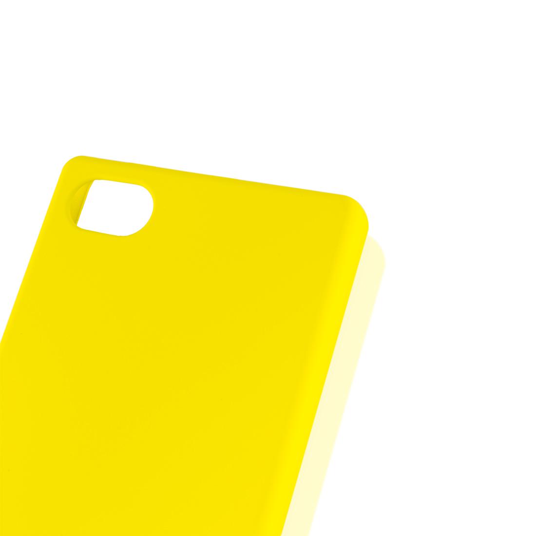 Пластиковый бампер для Xperia Z5 Compact жёлтого цвета