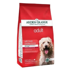 Сухой корм для взрослых собак, Arden Grange Adult chicken & rice, с курицей и рисом