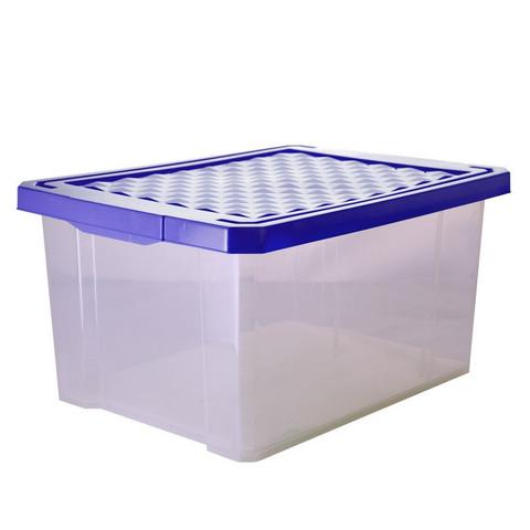 Ящик для хранения Optima 17л, синий, с крышкой
