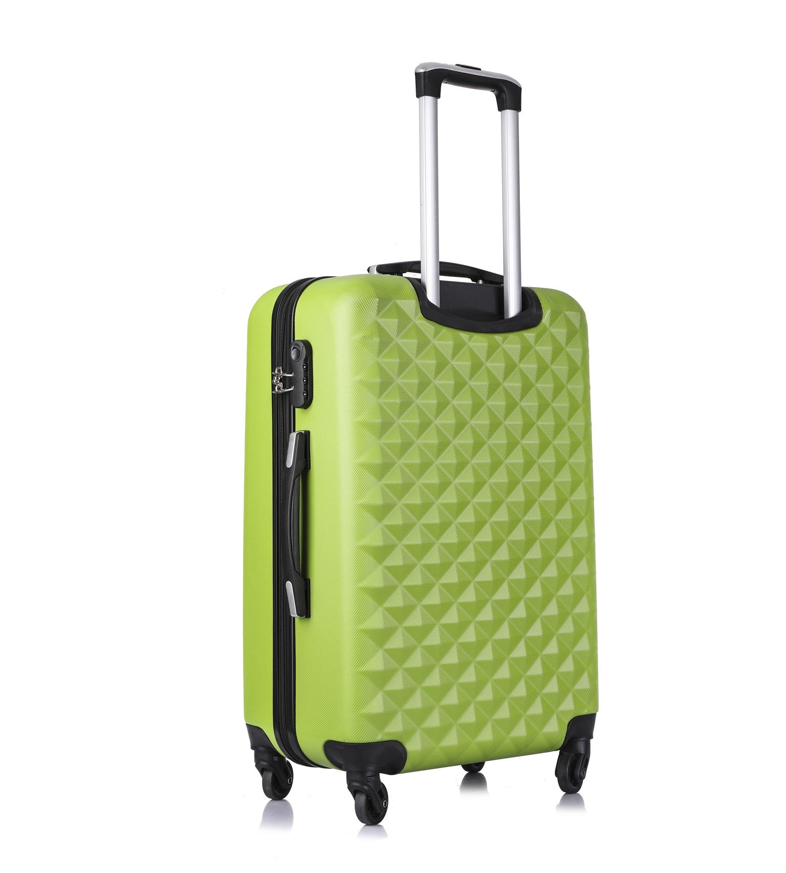 Чемодан со съемными колесами L'case Phatthaya-24 Зеленый (M)