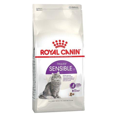ПРОМО! Royal Canin Sensible 33 сухой корм для кошек с чувств. пищеварением 400г + пауч 85 г