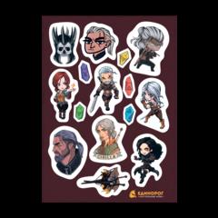Набор стикеров Witcher