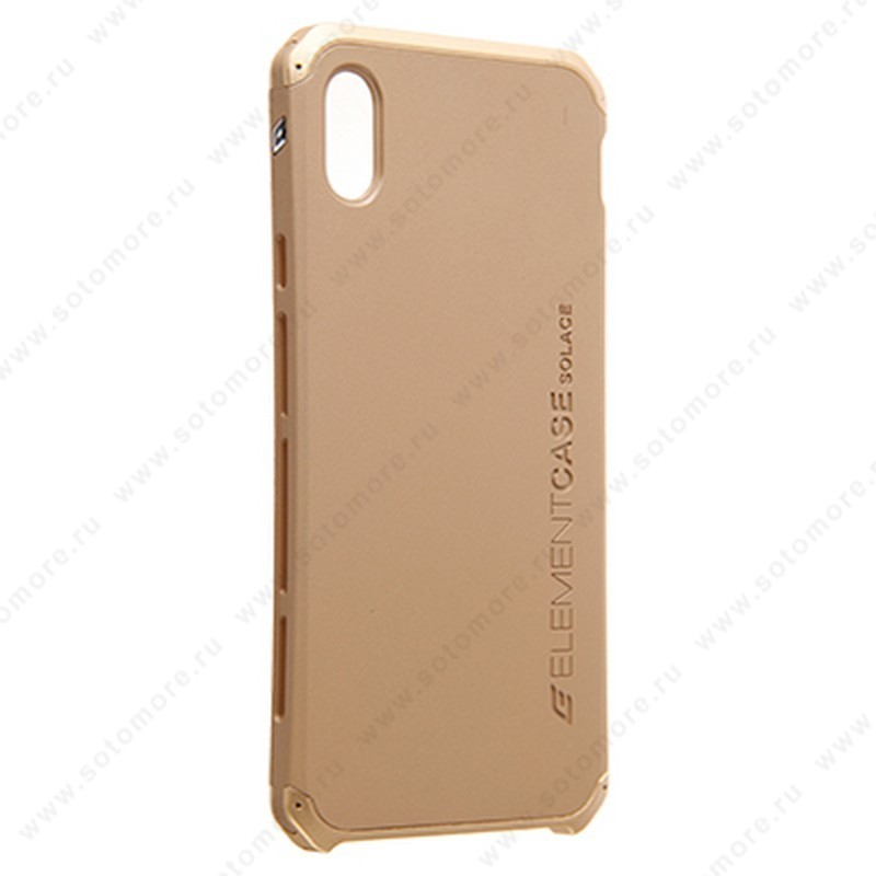 Накладка ELEMENT CASE для iPhone XS Max золото
