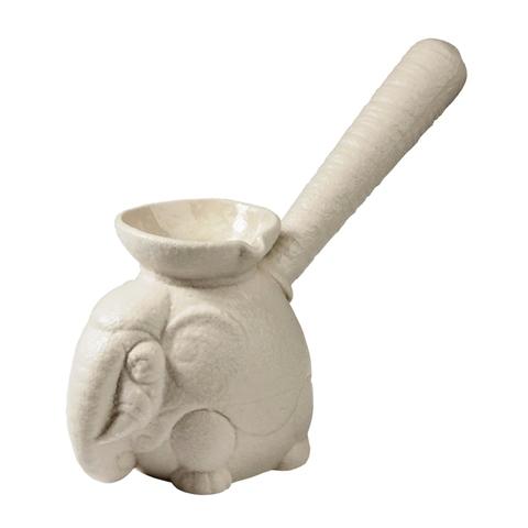 Турка фарфоровая керамическая «Слон большой белый»  450 мл ручной работы