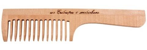 Расчёска с ручкой, средний зуб, 197мм