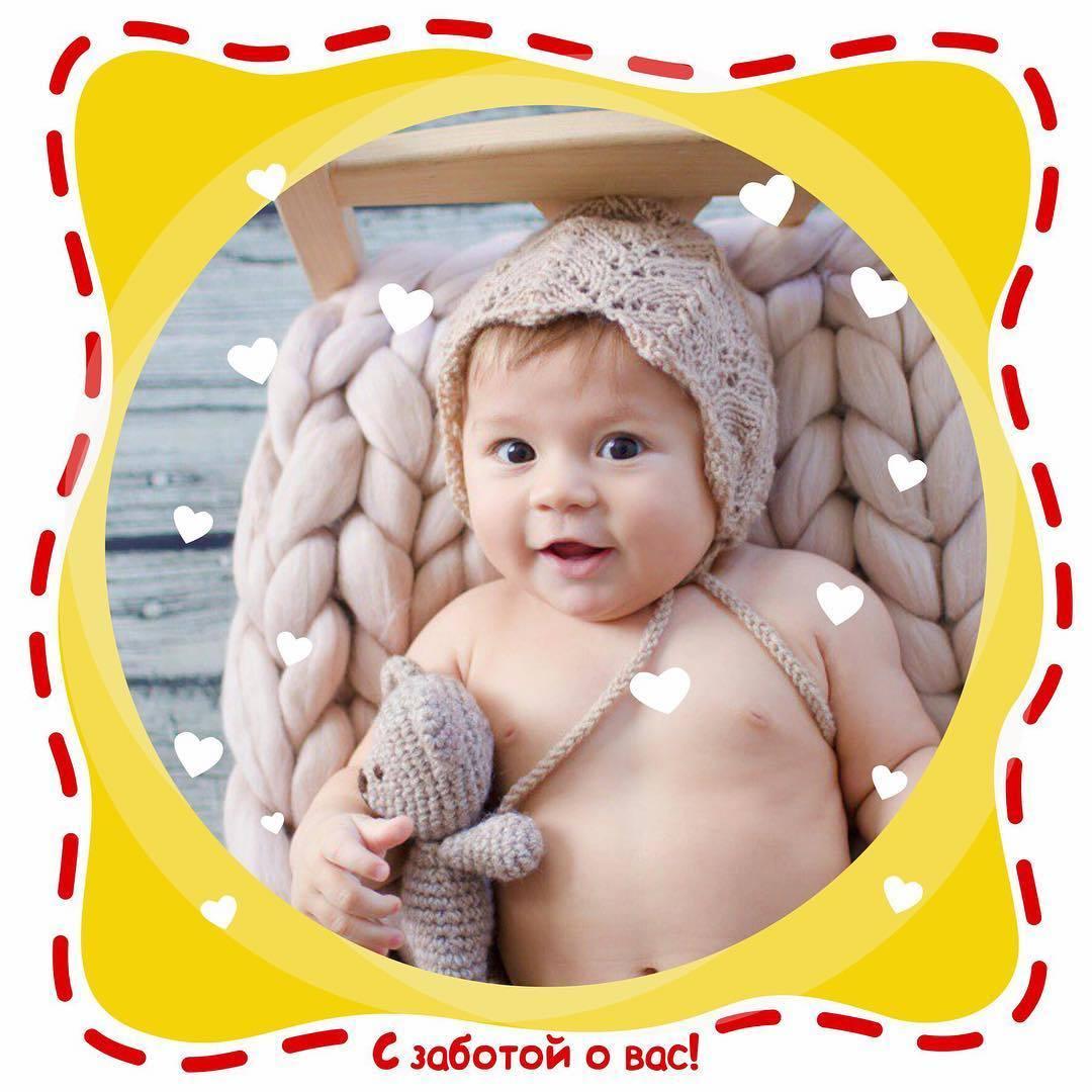 Макет для соцсетей детского магазина Банана-беби