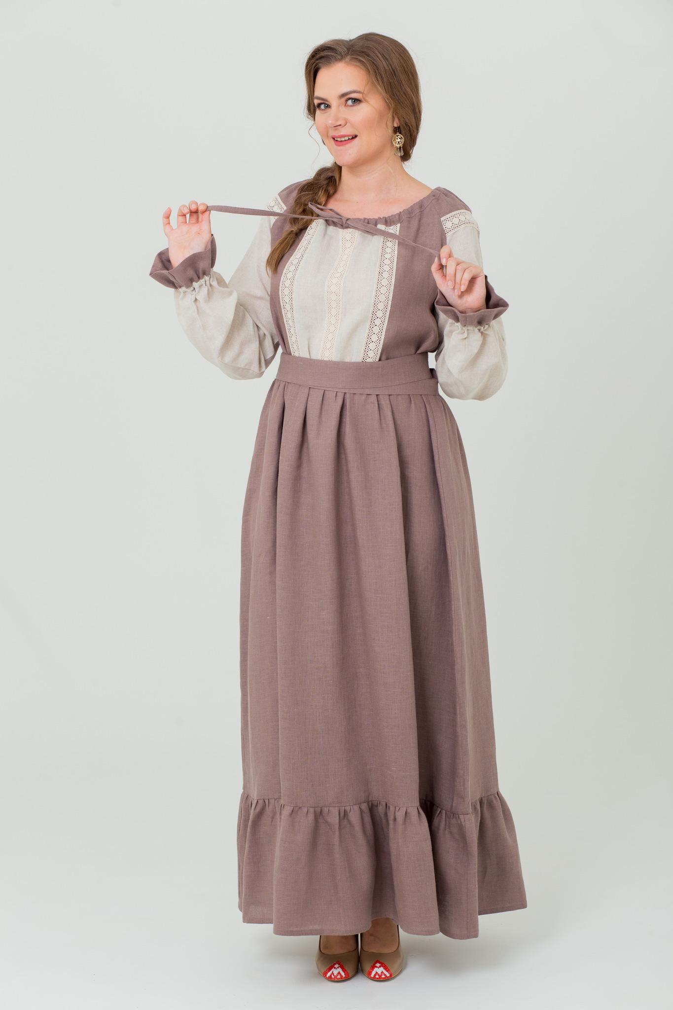 Славянское платье Тихий вечер в русском стиле