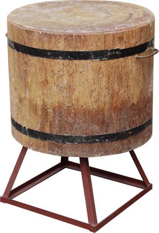 Разрубочная колода 500-550 мм сварная подставка дуб