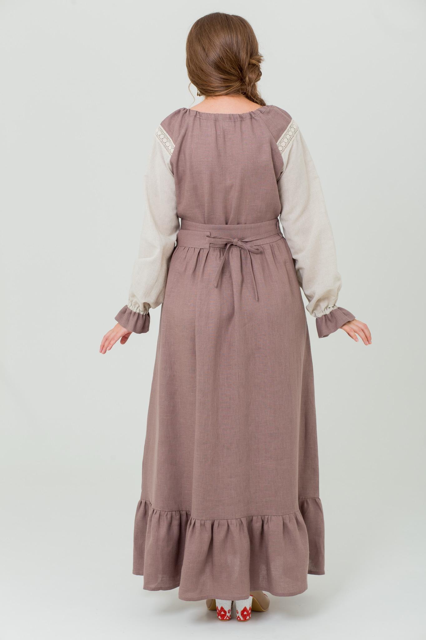 Льняное платье народное Тихий вечер с доставкой