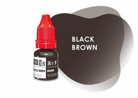 Black Brown (черно-коричневый) • Wizart Organic • пигмент для бровей