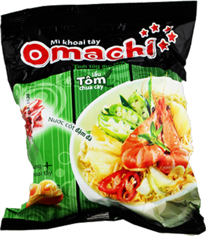 Сублимированная вьетнамская лапша Omachi, вкус креветки, 80 гр.