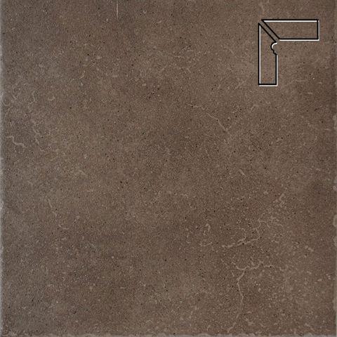 Interbau - Alpen, Engadin/Бурый песок, цвет 045 - Клинкерный плинтус ступени левый, 3 части
