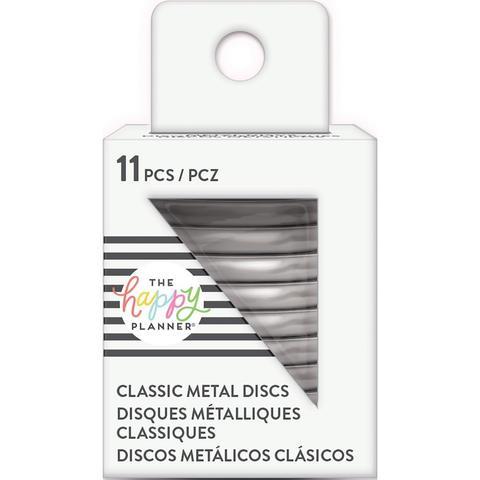 Диски металлические - (крепежный механизм для ежедневников) Happy Planner Metal Expander (Big) Discs  - Silver- 4.3 см