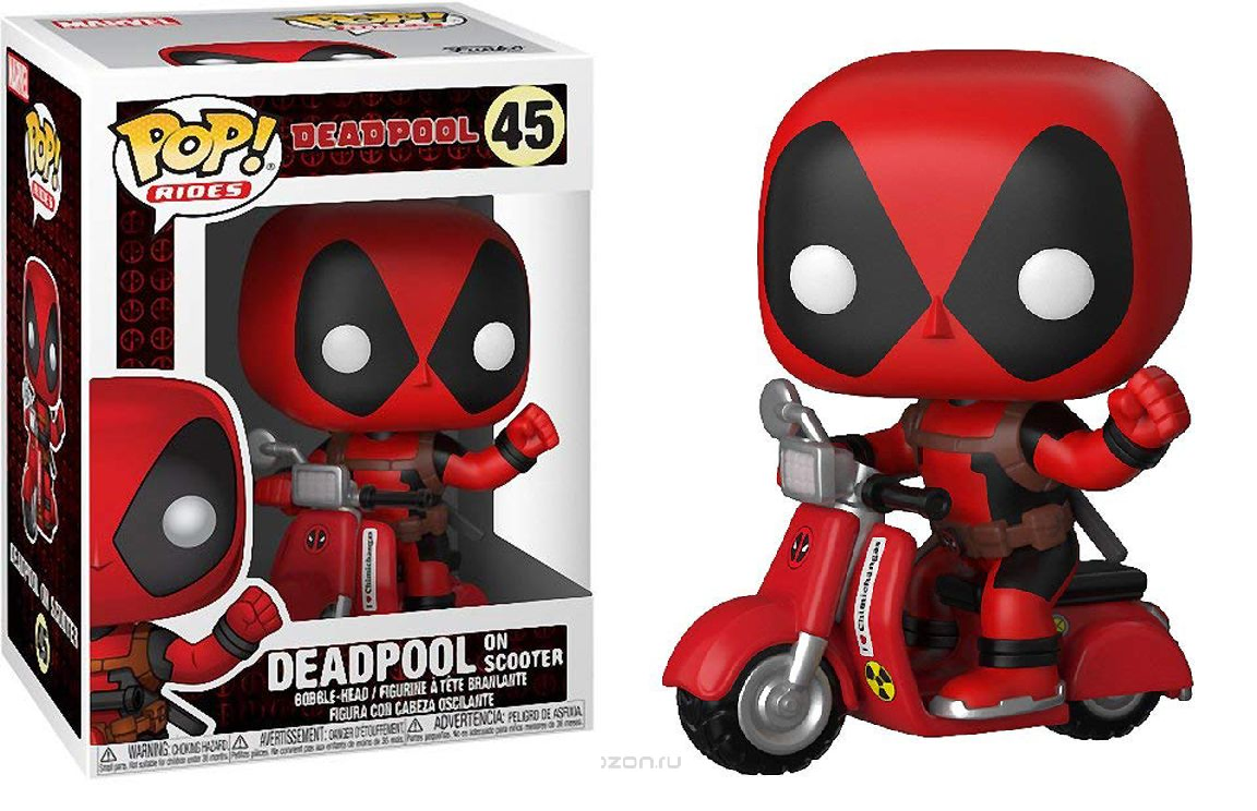 Фигурка Funko POP! Rides: Deadpool: Deadpool & Scooter 30969