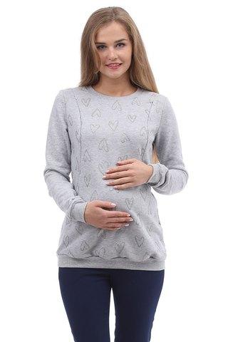 Свитшот для беременных и кормящих 10000 светло-серый