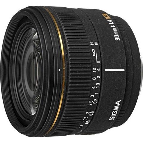 Объектив Sigma AF 30mm f/1.4 EX DC HSM Black для Nikon