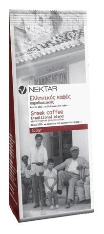 Традиционный греческий кофе обжаренный молотый Nektar 100 гр