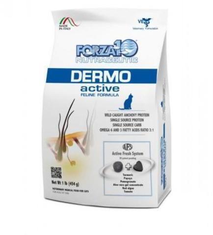 купить FORZA10 ActiveLine CAT Dermo Active сухой корм для взрослых кошек, диетический рацион при кожных заболеваниях