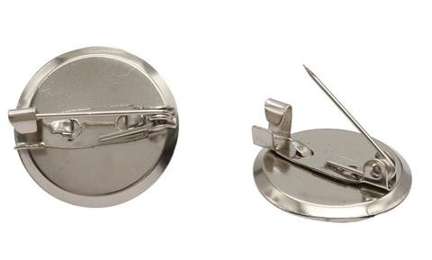 Основа для броши круглая, 30 мм