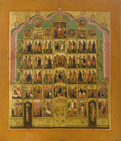 Икона Иконостас на дереве на левкасе мастерская Иконный Дом