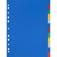 Разделитель листов Attache Economy А4 пластиковый 12 листов разноцветный (290х210 мм)