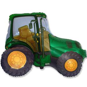 Фольгированный шар Трактор зеленый 65см Х 93см