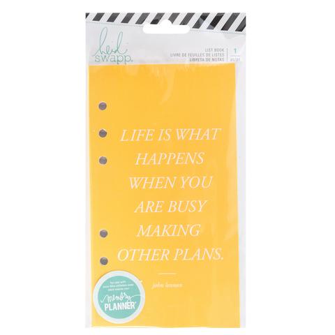 Внутренний блок Heidi Swapp Memory Planner Listbook - Fresh Start, Budget