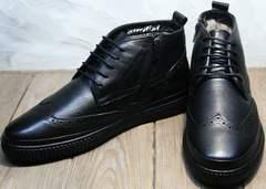 Ботинки на меху мужские Rifellini Rovigo C8208 Black