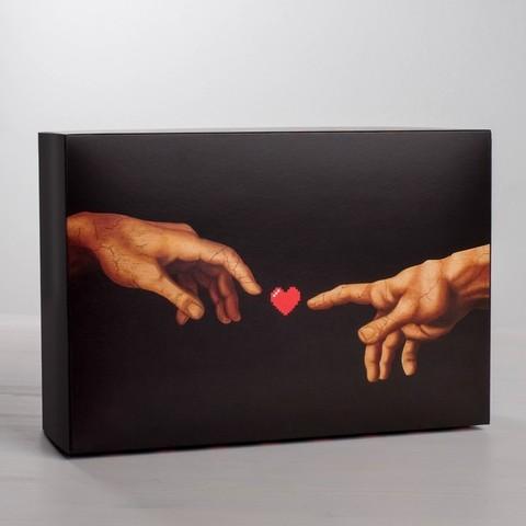 Коробка складная LOVE, 16 × 23 × 7.5 см